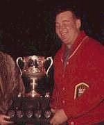 Gervais is presented with the MacDonald Trophy for winning the 1961 Brier.