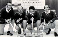 Hec's 1974 Brier-winning team: Hec, Ron Anton, Warren Hanson and Darrel Sutton.